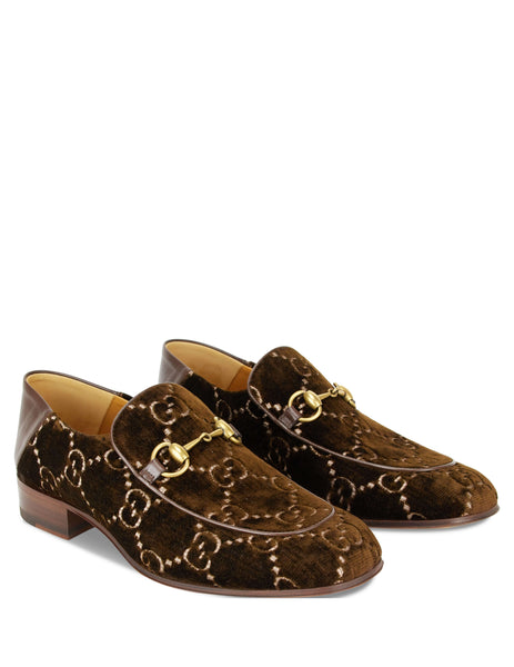 Horsebit GG Velvet Loafers