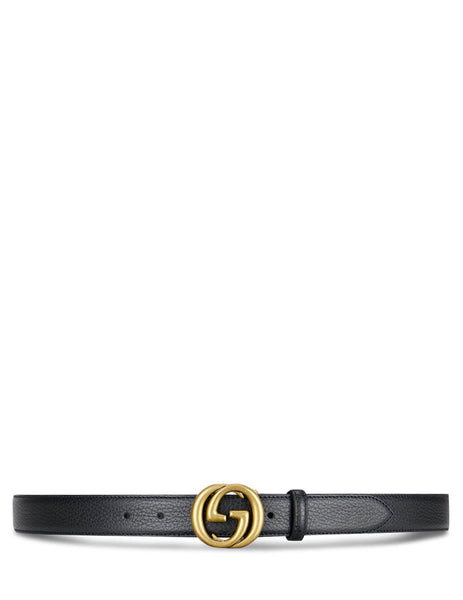 Gucci Men's Black Interlocking G Belt 474345 CAO0T 1000
