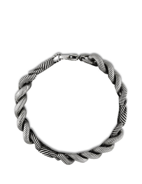 Gucci Men's Giulio Fashion Aged Silver Interlocking G Bracelet 599739 J8400 0811