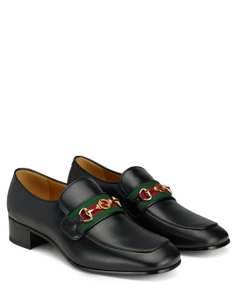 Gucci Men's Giulio Fashion Black Interlocking G Loafers 5748420G0Y01060