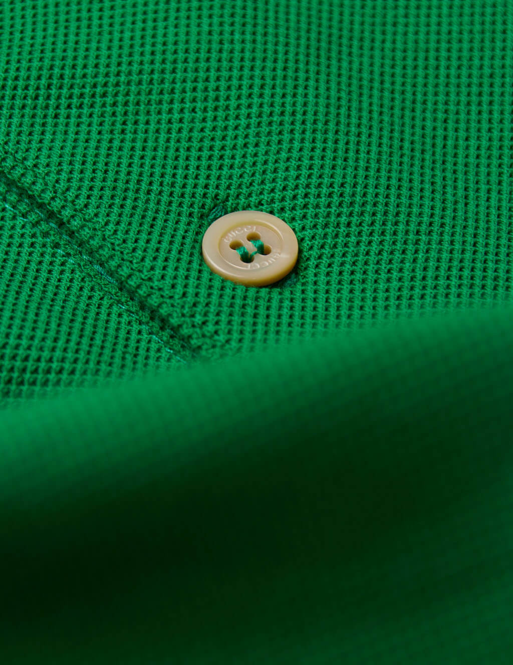 Gucci Men's Yard Green Interlocking G Stripe Polo Shirt 598949XJB0Q3129