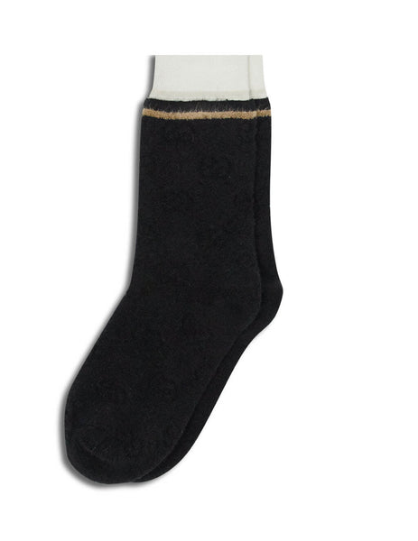 Gucci Men's Black Logg Sponge Socks 5976414G5711078