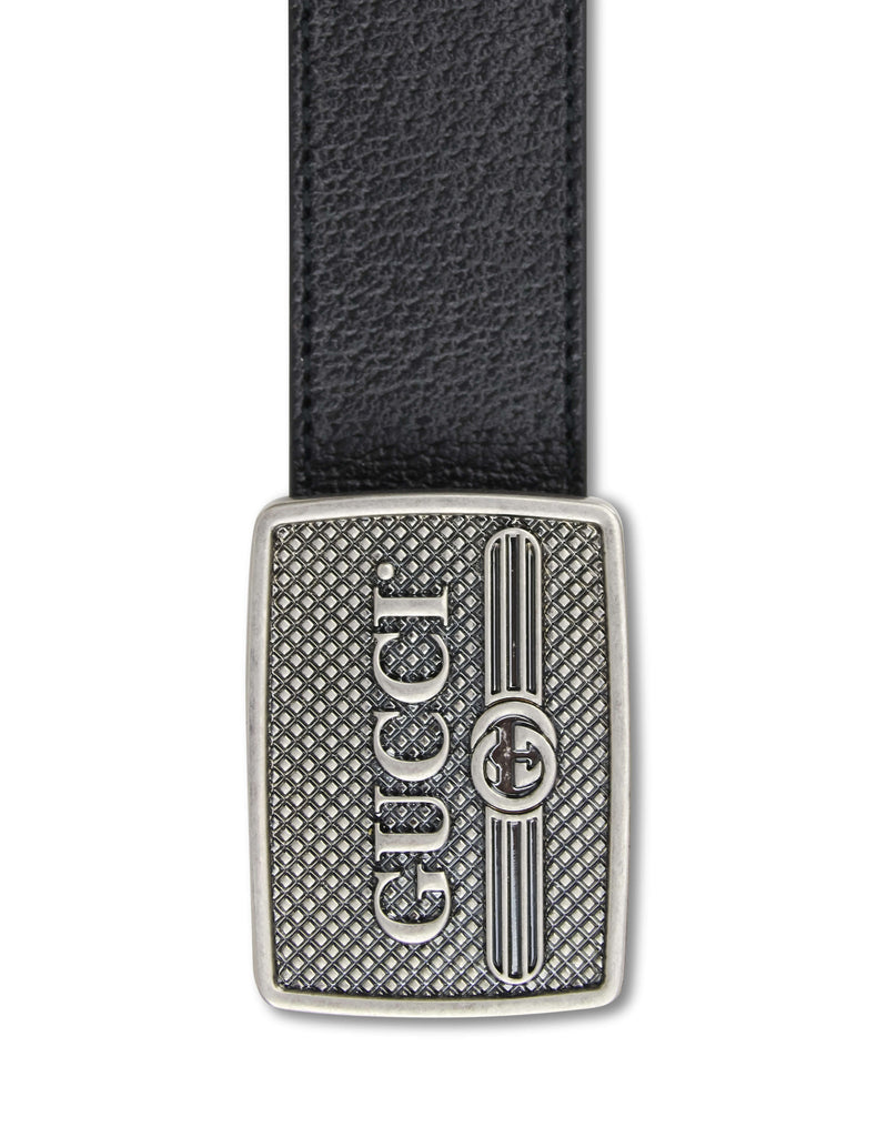 366ac5046cd Gucci Men s Black Leather Belt With Logo Buckle