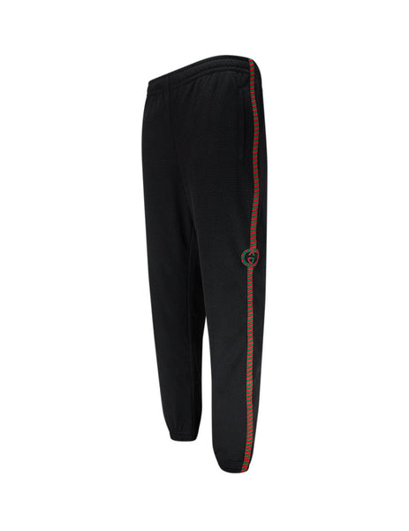 Men's Gucci Mesh Sweatpants in Black 599356 XJB1N 1082