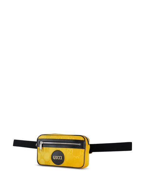 Gucci Men's Crop Yellow Off The Grid Belt Bag 631341 H9HBN 7673