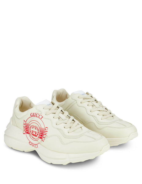 Men's Gucci Rhyton Sneakers in Ivory. 630607DRW009522