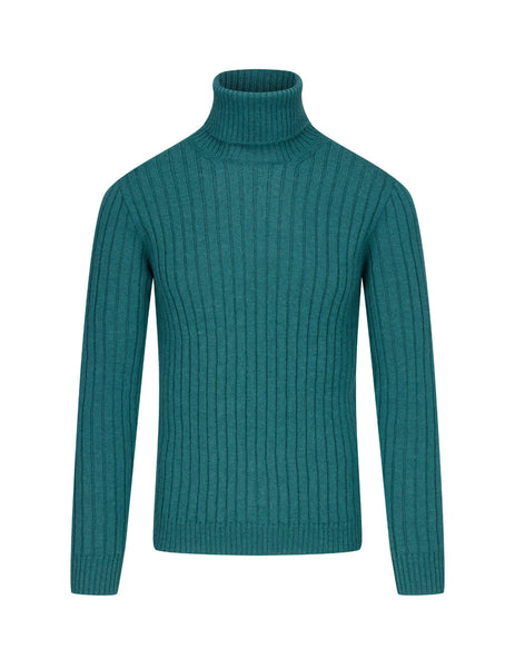 Men's Gucci Rib Knit Jumper in Teal. 626086XKBE73601