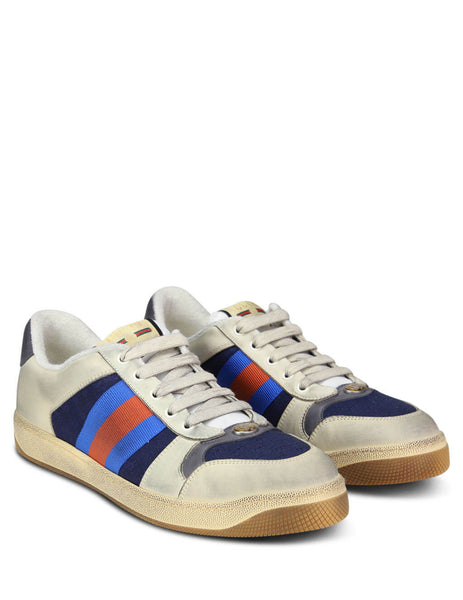 Gucci Men's Giulio Fashion Off White Screener GG Sneakers 54655199W204368