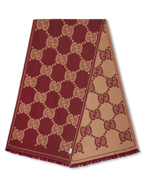 Gucci Men's Giulio Fashion Light Brown Shaded Web Scarf 5736834G2002773