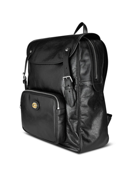 Men's Gucci Soft Leather Backpack in Black 575823 1GZBX 1000