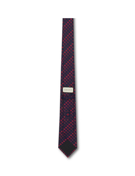 Gucci Men's Midnight Blue and Red Soft Running Tie 4953304e0024074