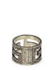 Gucci Men's Giulio Fashion Aged Silver Square G Ring 551917
