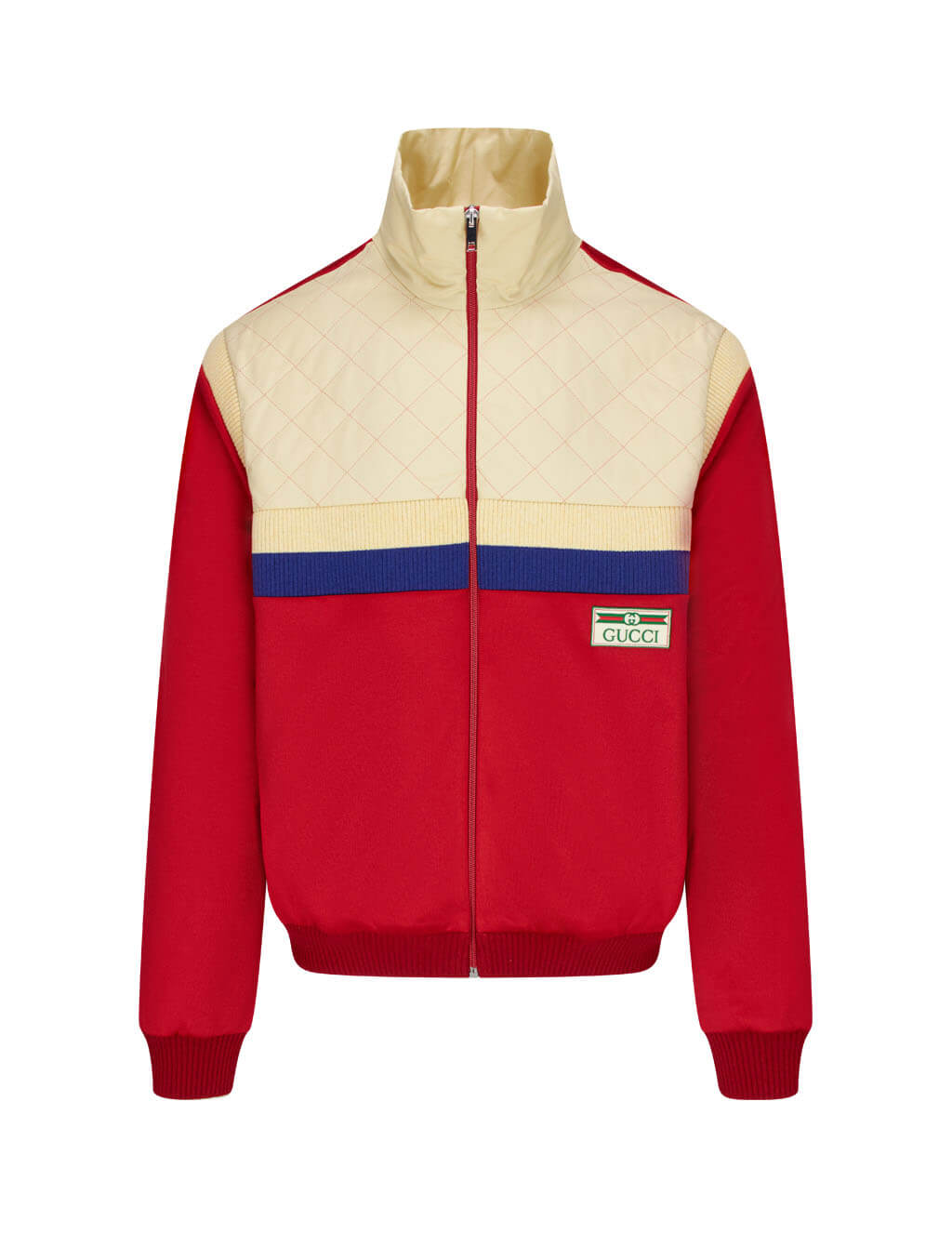 Men's Gucci Technical Jersey Jacket in Live Red. 625287XJCNI6678