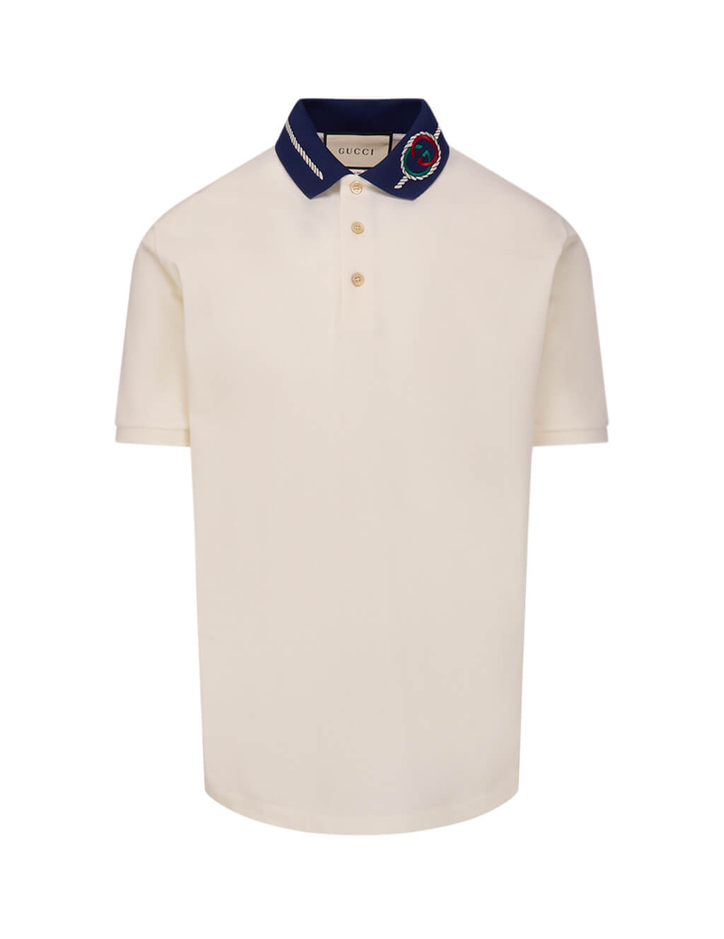 Men's Gucci Torchon Polo Shirt in Off White 598960 XJB0X 9280