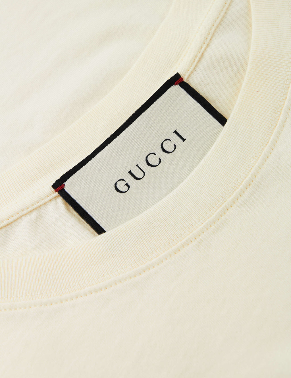 Gucci Men's Giulio Fashion Off White Winged Jockey T-Shirt 493117XJAN37136