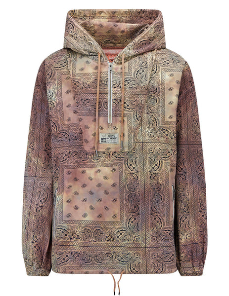 Men's GUESS x Alchemist Paisley Hoodie in Brown/Multicolour - M1GN10R7KD3B