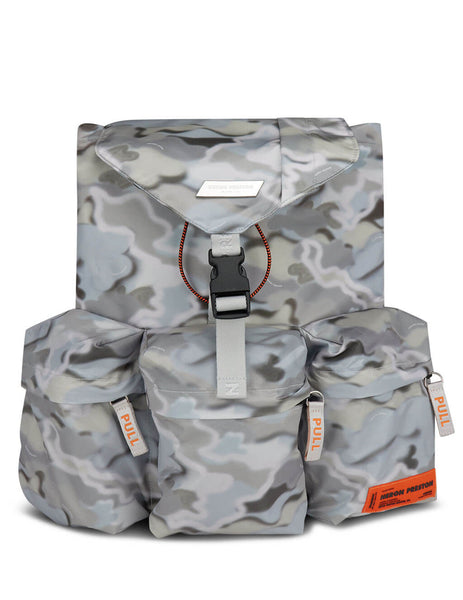 Men's Grey Heron Preston Camouflage 3 Pocket Backpack HMNB009S209440078800