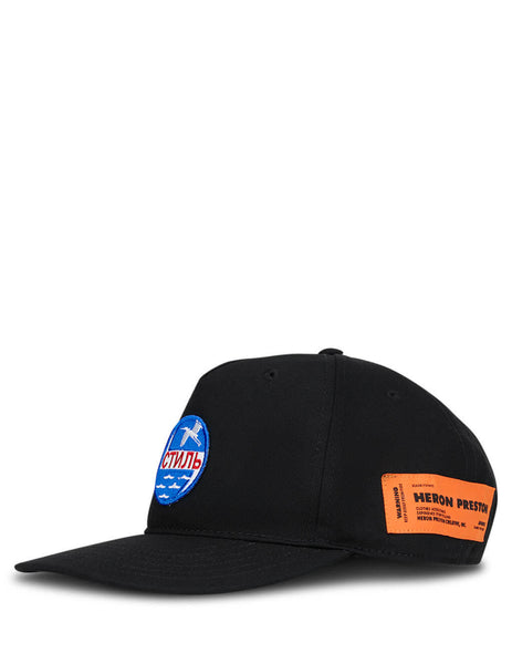Heron Preston Men's Black CTNMB Circle Cap HMLB006F20FAB0031040