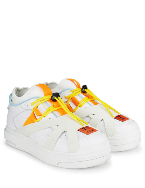 Men's White Leather Heron Preston Protection Sneakers HMIA015S209310780100