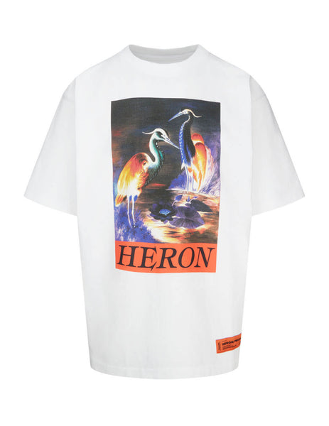 Heron Preston Men's White Times T-Shirt HMAA020F20JER0020120