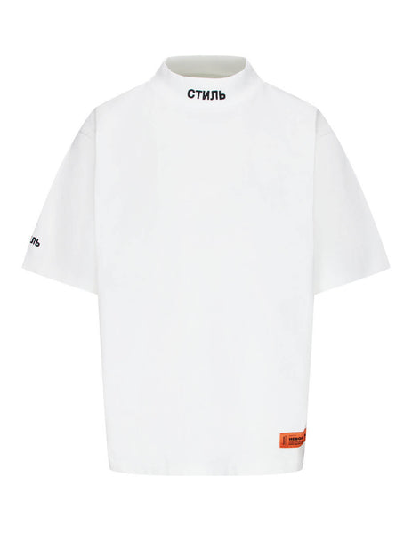 Men's White Heron Preston Turtleneck T-Shirt HMAA021F20JER0010110