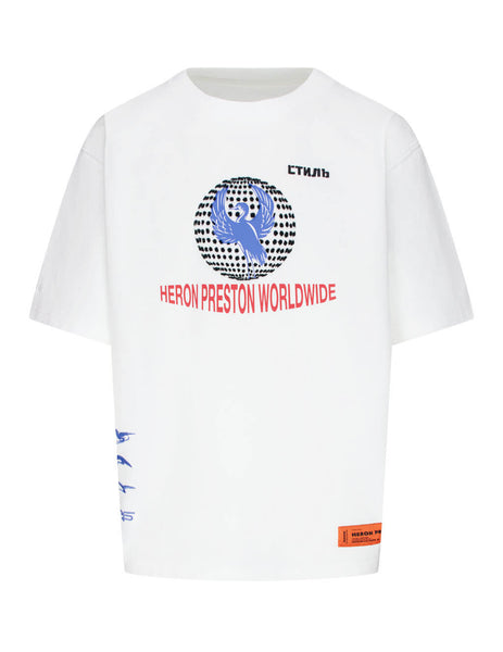 Heron Preston Men's Giulio Fashion White Worldwide T-Shirt HMAA019F20JER0060110