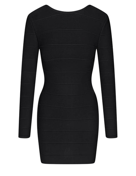 Herve Leger Women's Black Icon Mini Sheath Dress HLT8202270-001