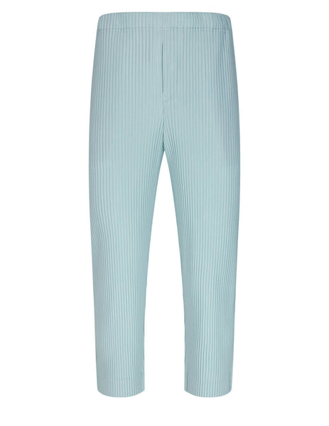 Men's HOMME PLISSE ISSEY MIYAKE Monthly Colours February Trousers in Light Grey - HP16-JF113-11