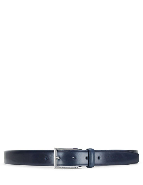 Boss Hugo Boss Smooth Leather Belt Dark Blue 50402784401 Men's Giulio Fashion