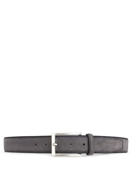 Boss Hugo Boss Suede Leather Belt Dark Grey 50403295023 Men's Giulio Fashion