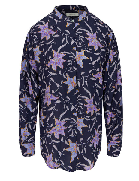 Women's Isabel Marant Etoile Catchell Shirt in Faded Night - CH062821P028E30FN