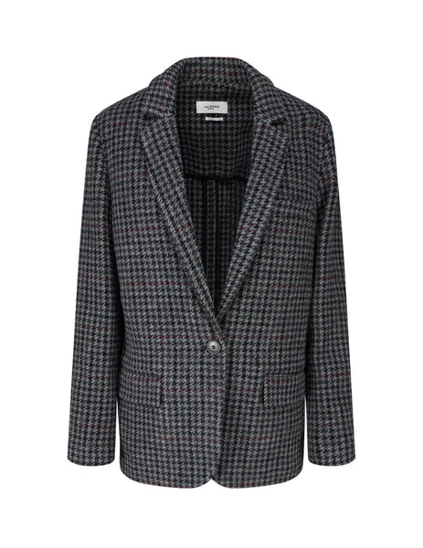 Women's Isabel Marant Etoile Charley Jacket in Anthracite. VE043920A025E02AN