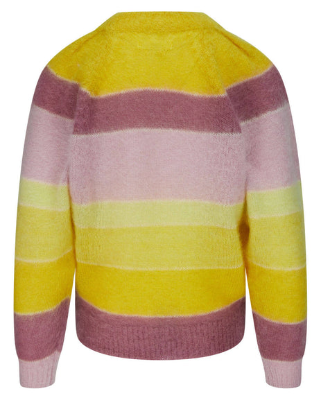 Women's Isabel Marant Etoile Daniel Rainbow Stripe Jumper in Yellow/Pink - PU154121P068E10YW