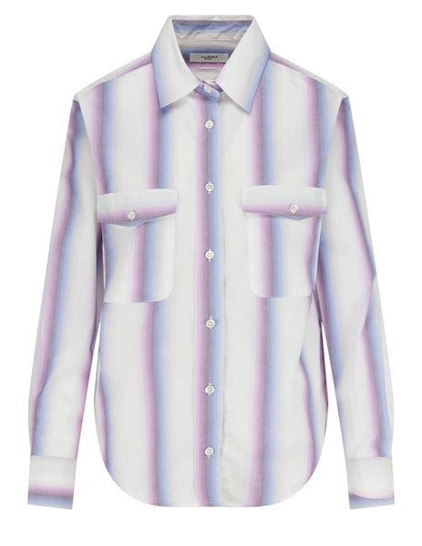Women's Isabel Marant Étoile Jalyne Striped Shirt in Pink - CH070821P025E40PK