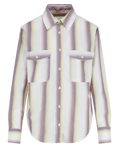 Women's Isabel Marant Étoile Jalyne Striped Shirt in Yellow - CH070821P025E10YW