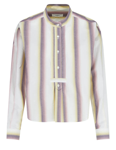 Women's Isabel Marant Étoile Jamet Striped Shirt in Yellow - HT199521P025E10YW