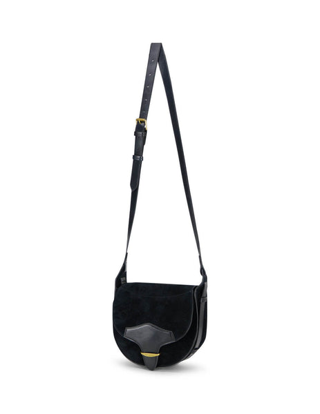 Women's Black Leather Isabel Marant Botsy Crossbody Bag.  PP032020A012M01BK
