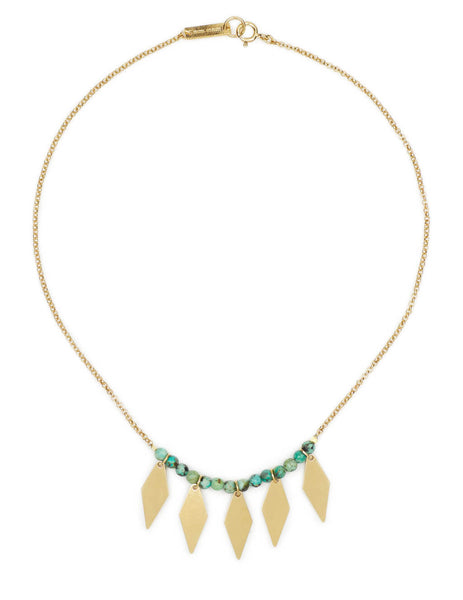 Women's Isabel Marant Harlow Necklace in Water Green - CO037421P028B60WG