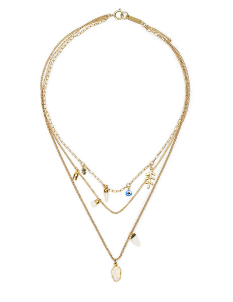 Women's Isabel Marant Its All Rig Necklace in Ecru - CO034821P023B23EC