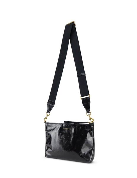 Women's Black Leather Isabel Marant Nessah Shoulder Bag. BF003900M004M01BK