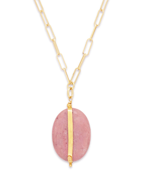 Isabel Marant Womens Giulio Fashion Gold Pink Stone Necklace CO023219A025B40RW