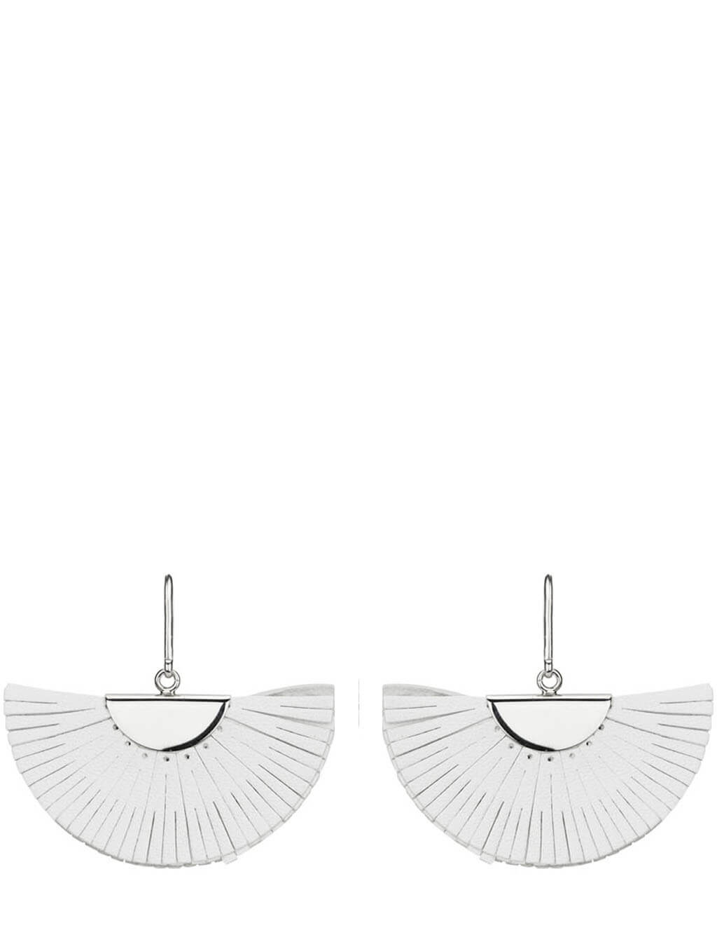 Women's Isabel Marant Summer Leather Earrings in White/Silver - BL107421P015BWHSI