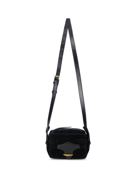 Women's Black Leather Isabel Marant Wasy Crossbody Bag. BF016120A012M01BK