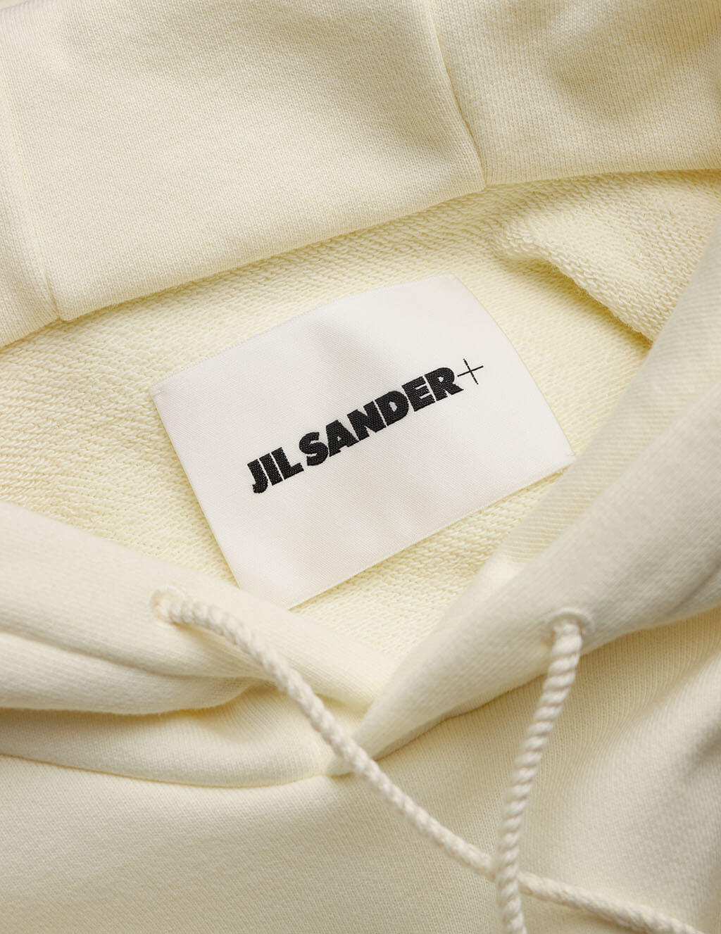 Jil Sander Men's Natural White + Boxy Hoodie JPUS707526-MS248608-106