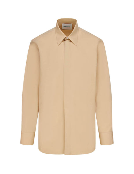 Jil Sander Men's Beige Cotton Poplin Shirt JSMR740526-MR244300 260