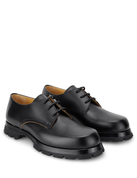 Jil Sander Men's Black Leather Derby Shoes JI35501A-12232 999