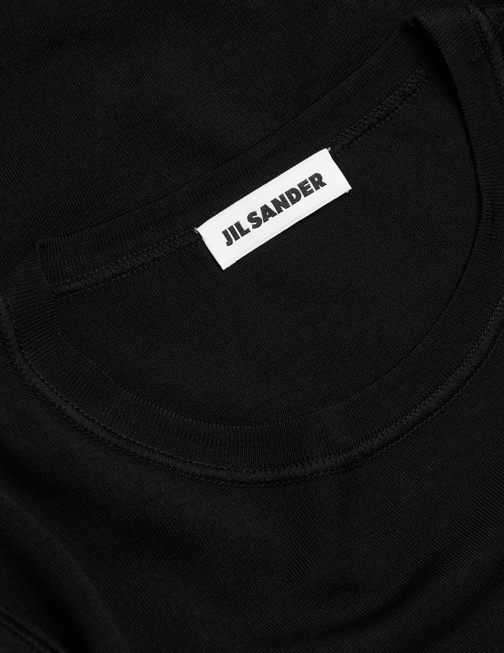 Men's Jil Sander Lightweight Fleece Jumper in Black - JSMS751010-MSY20058-001