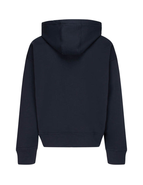 Men's Jil Sander Organic Cotton Hooded Sweatshirt in Dark Blue - JPUR707526-MR248608 401