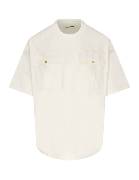 Jil Sander Men's Giulio Fashion White Pocket Detail Tee JSMR707012-MR248708 102