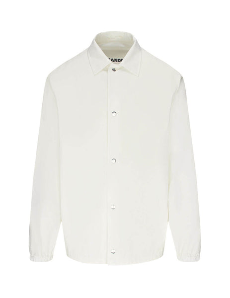Jil Sander Men's Giulio Fashion White Poplin Shirt JSIR420311-MR244900 104